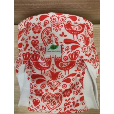 LA mosható pelenka L méret - piros népi