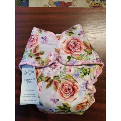Manóca mosható éjszakai belső pelenka - rózsák (8-15 kg) - 2. méret