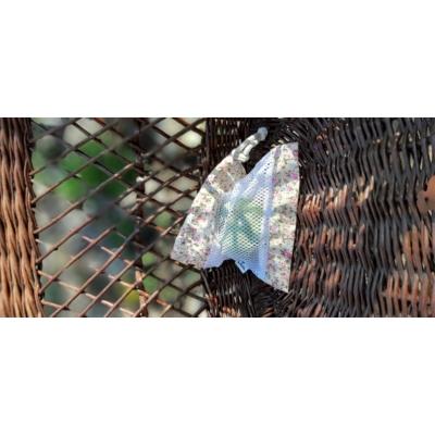 Bevásárló zsák - kicsi (drapp virágos)