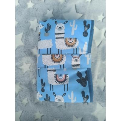 Viiza by Karina pamutvászon pelenkázó alátét - kék alapon lámás