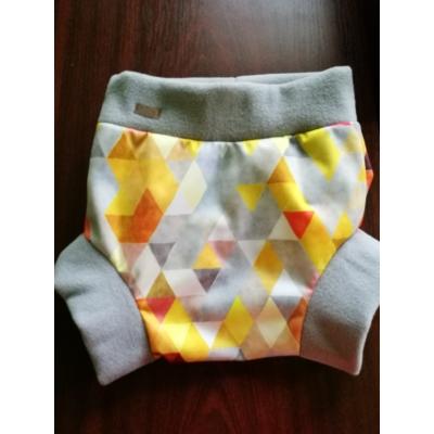 Viiza by Karina bebújós PUL külső pelenka XL méret(12+kg) sárga-szürke háromszög