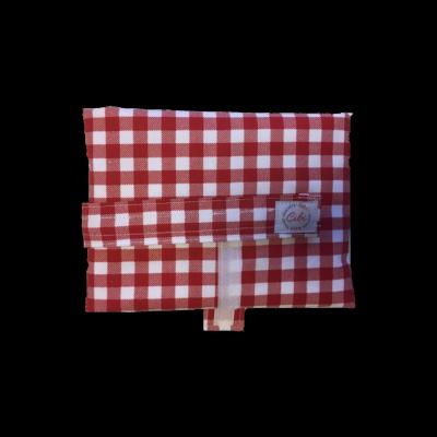 Cibi Élelmiszerbiztos újraszalvéta XL - kockás piros