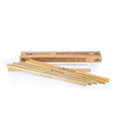 Bambusz szívószál tisztítókefével – 6 db