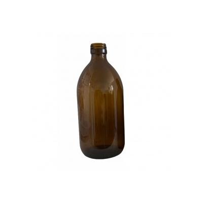 Háztartási üveg - 250 ml - barna, 28 mm-es menettel