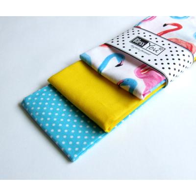 BlessYou textil zsebkendő L (3 db) - türkiz flamingó