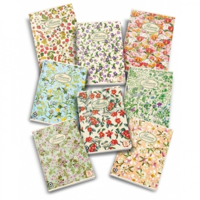 Pigna Nature Flowers újrapapír füzet - A/4  - kockás