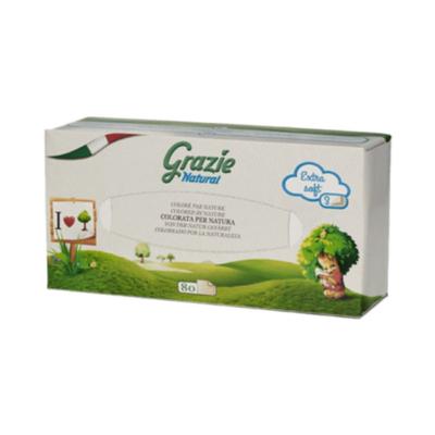 Grazie Öko papírzsebkendő újrapapírból 3 rétegű papír dobozos (80 db)