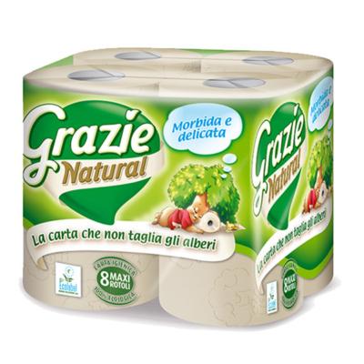 Grazie Öko WC papír, újrapapírból - 2 rétegű - 8 tekercs/csomag