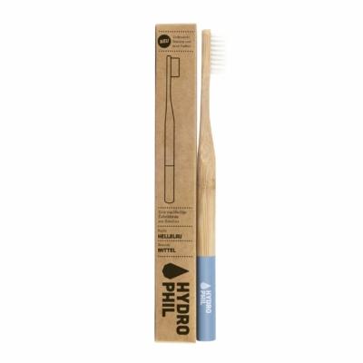Hydrophil Felnőtt bambusz fogkefe közepes sörtével - világoskék