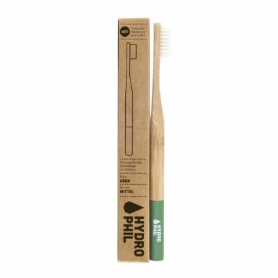 Hydrophil Felnőtt bambusz fogkefe közepes sörtével - zöld