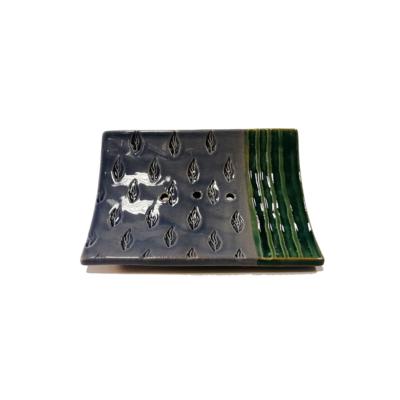 Kerámia szappantartó - türkiz-lila