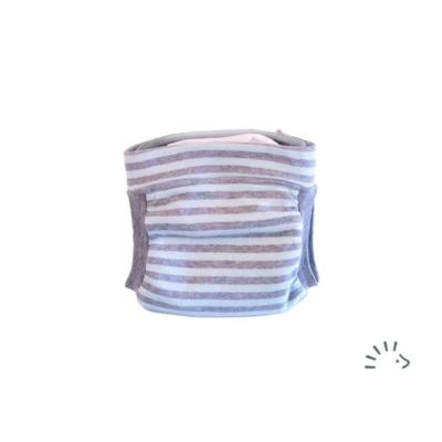 Popolini EasyFree csónakos pelenka - kék-szürke csíkos S 2,5-5 kg