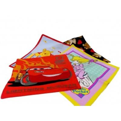 Textil zsebkendő - gyerek (lányos minták)